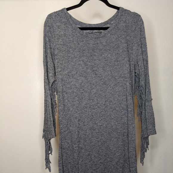 Zadig & Voltaire Dresses & Skirts - Gray Zadig & Voltaire Fringe Dress - size Small